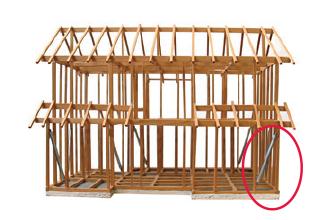 1階の柱の部分に設置